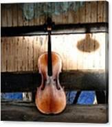 Cello Neck Blues Canvas Print