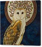 Celtic Barn Owl Canvas Print