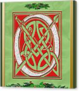 Celtic Christimas O Initial Canvas Print