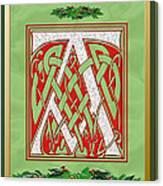 Celtic Christmas A Initial Canvas Print