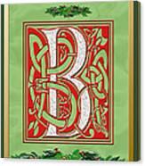 Celtic Christmas B Initial Canvas Print