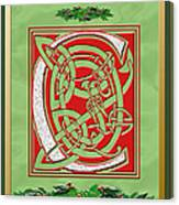 Celtic Christmas C Initial Canvas Print