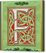Celtic Christmas F Initial Canvas Print