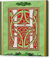 Celtic Christmas H Initial Canvas Print