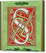 Celtic Christmas S Initial Canvas Print