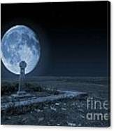Celtic Cross And Moon Canvas Print