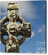 Celtic Cross, Cong Abbey, Ireland Canvas Print