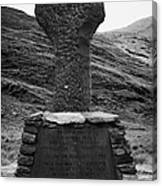 Celtic Cross Famine Memorial At Doulough County Mayo  Canvas Print