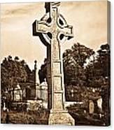 Celtic Cross In Sepia 1 Canvas Print