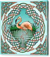 Celtic Flamingo Art Canvas Print