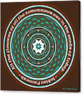 Celtic Lotus Mandala Canvas Print