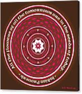 Celtic Lotus Mandala In Pink And Brown Canvas Print