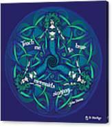 Celtic Mermaid Mandala In Blue And Green Canvas Print