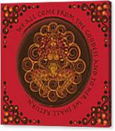 Celtic Pagan Fertility Goddess In Red Canvas Print