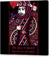 Celtic Queen Of Hearts Part IIi The King Of Hearts Canvas Print