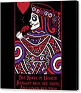 Celtic Queen Of Hearts Part Iv The Broken Knave Canvas Print