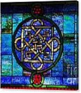 Celtic Stained Glass Horizontal Canvas Print
