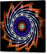 Celtic Tarot Moon Cycle Zodiac Canvas Print