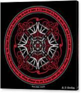 Celtic Vampire Bat Mandala Canvas Print
