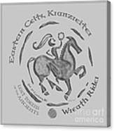 Celtic Wreath Rider Coin Canvas Print