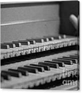 Cembalo Keyboards Canvas Print