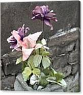 Cemetary Flowers 2 Canvas Print