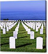 Cemetery At Waterfront, Fort Rosecrans Canvas Print