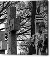 Cemetery Crosses Canvas Print