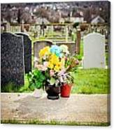 Cemetery Flowers Canvas Print
