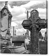 Cemetery Graves Canvas Print