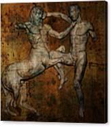 Centaur Vs Lapith Warrior Canvas Print