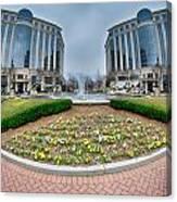 Center Fountain Piece In Piedmont Plaza Charlotte Nc Canvas Print