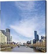 Central Melbourne Skyline By Day Australia Canvas Print