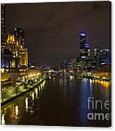 Central Melbourne Skyline In Australia Canvas Print