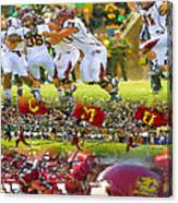 Central Michigan Football Collage Canvas Print