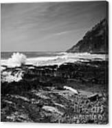 Central Oregon Coast Bw Canvas Print