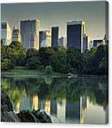Central Park Lake Looking South Canvas Print