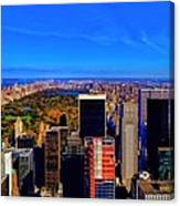 Central Park And New York City In Autumn Canvas Print