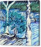 Central Park Blues Canvas Print