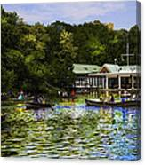 Central Park Boathouse Canvas Print