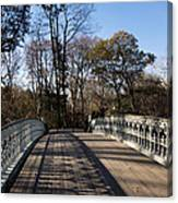Central Park Bridge Shadows Canvas Print