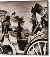 Central Park Carriage Ride - Antique Appeal Canvas Print
