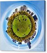 Central Park Circagraph  Canvas Print