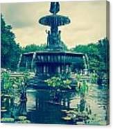 Central Park Fountain Canvas Print