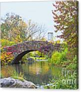 Central Park Gapstow Bridge Autumn II Canvas Print