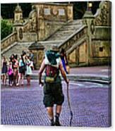 Central Park Hiker Canvas Print