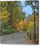 Central Park In Autumn 7 Canvas Print