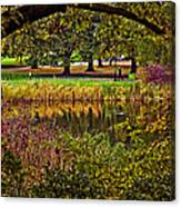 Central Park In Autumn - Nyc Canvas Print