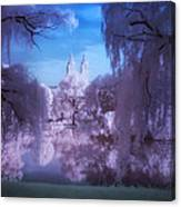 Central Park Lake Willows Color Canvas Print