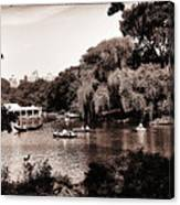 Central Park Rowing - New York City Canvas Print